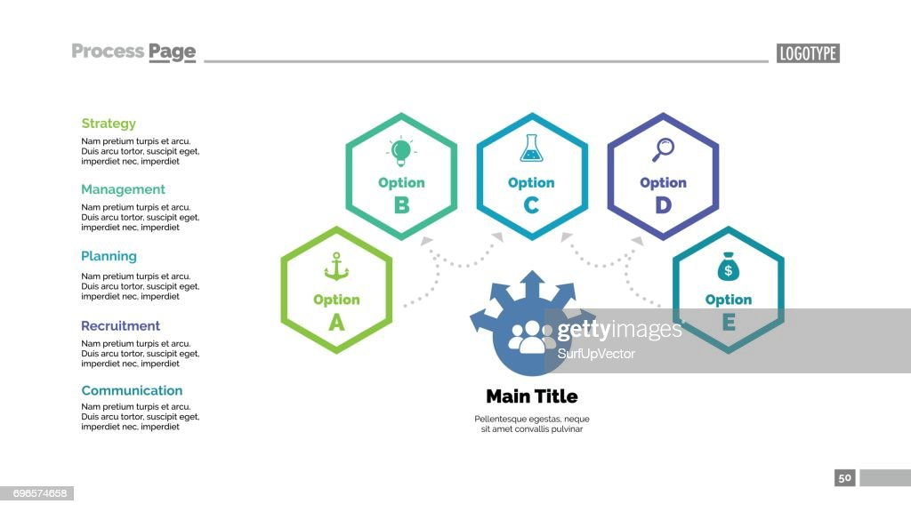 Four Options Teamwork Slide Template Vector Art | Getty Images