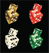 four pairs of dices