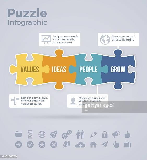 Four Piece Puzzle Infographic