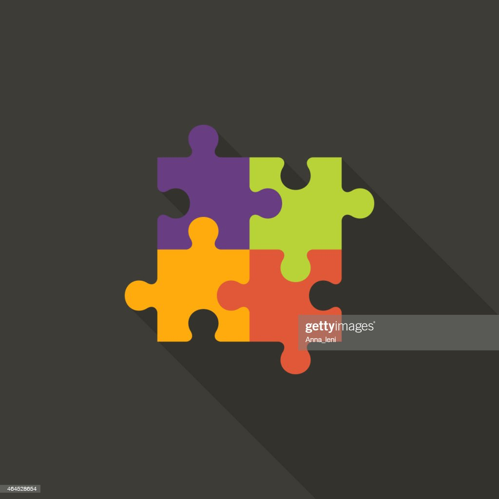 Four Puzzle Flat Icon