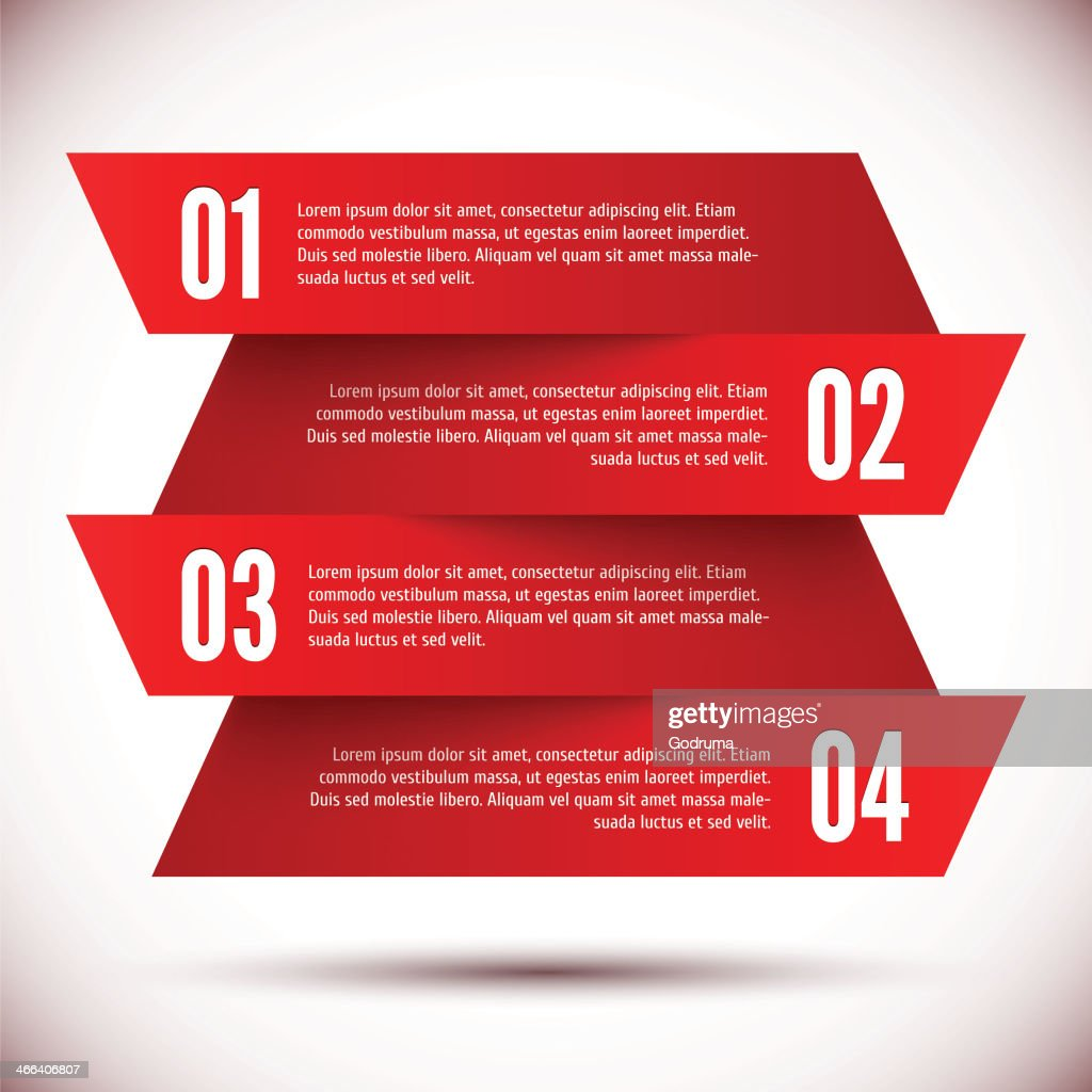 Four red banner design templates