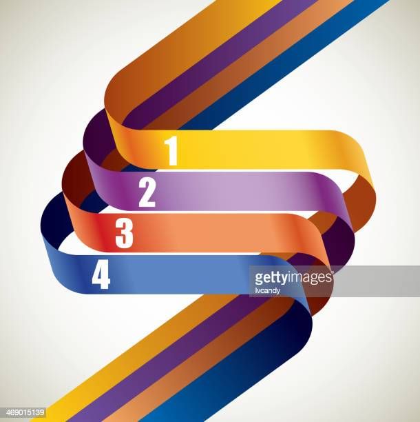 four ribbons - letter s stock illustrations, clip art, cartoons, & icons
