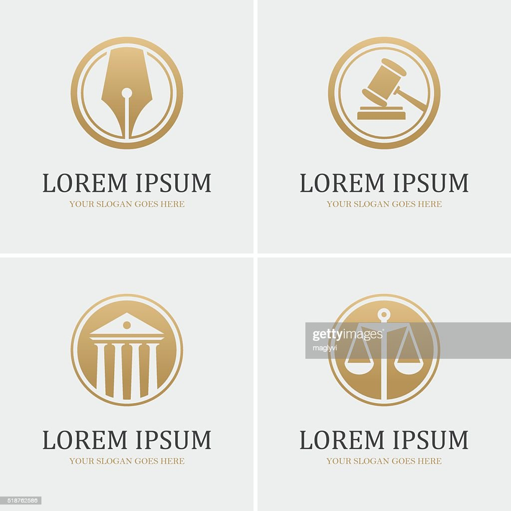 Four round law icons