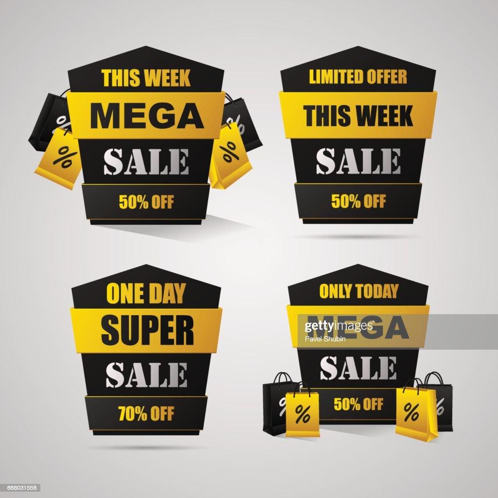 4 Sale Banner Mit Einmal 50 70 Vektorgrafik   Getty Images 806fc7923b