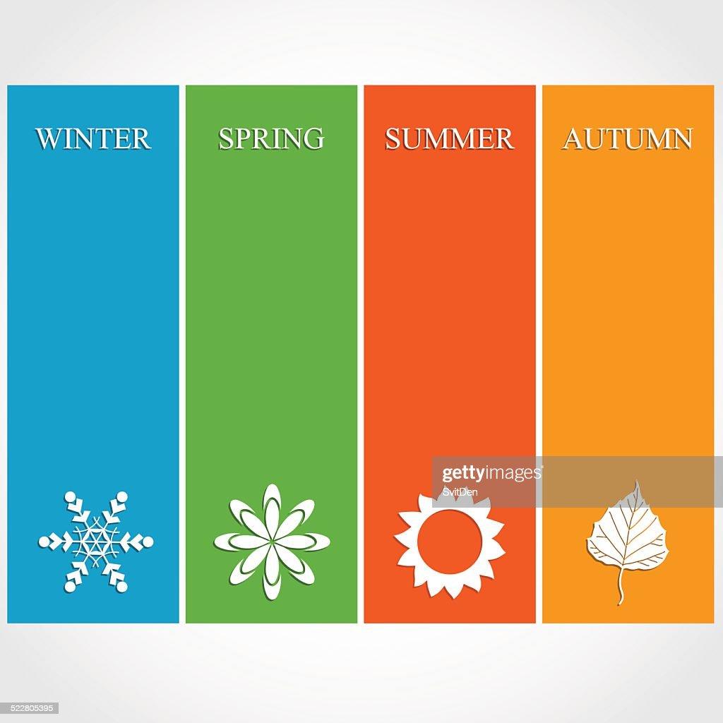 Four season illustration