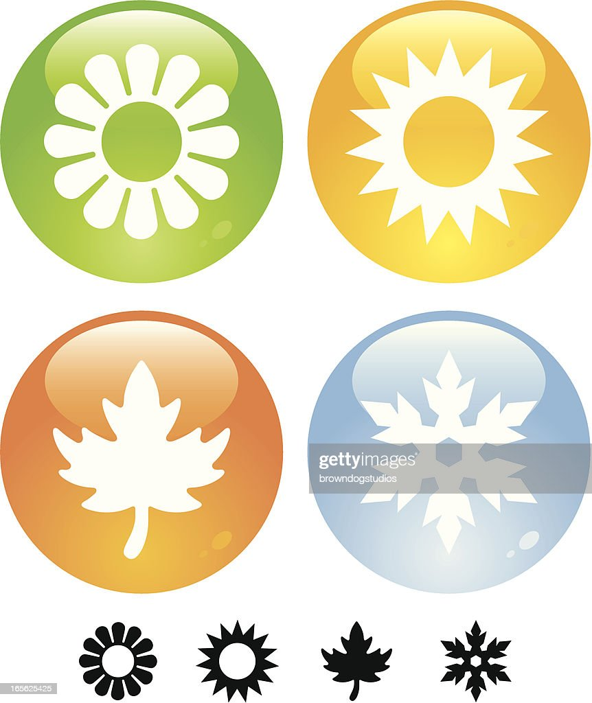 Four Seasons Buttons