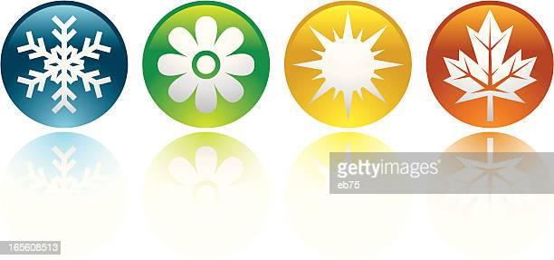 ilustraciones, imágenes clip art, dibujos animados e iconos de stock de four seasons iconos - las cuatro estaciones