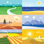 Four Seasons Landscapes banners