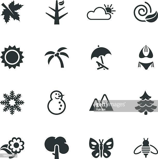 Four Seasons Silhouette Icons