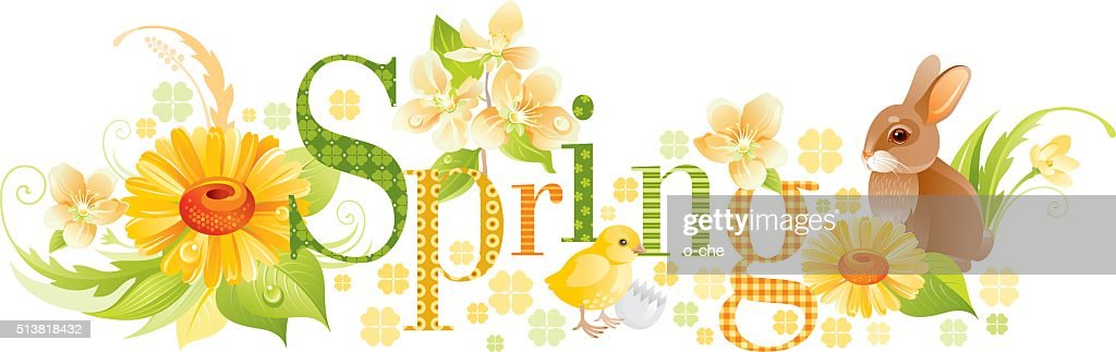 Four seasons: Spring banner