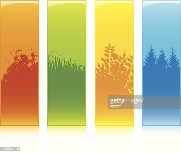 illustrations, cliparts, dessins animés et icônes de four seasons - les 4 saisons