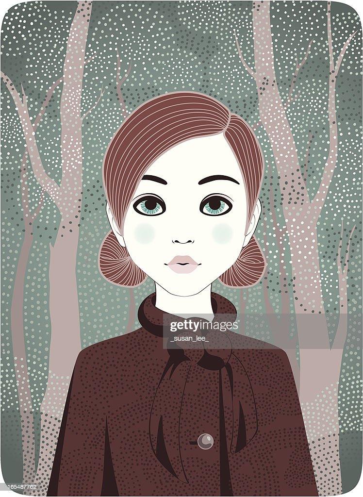 Four Seasons - Winter Girl : stock illustration