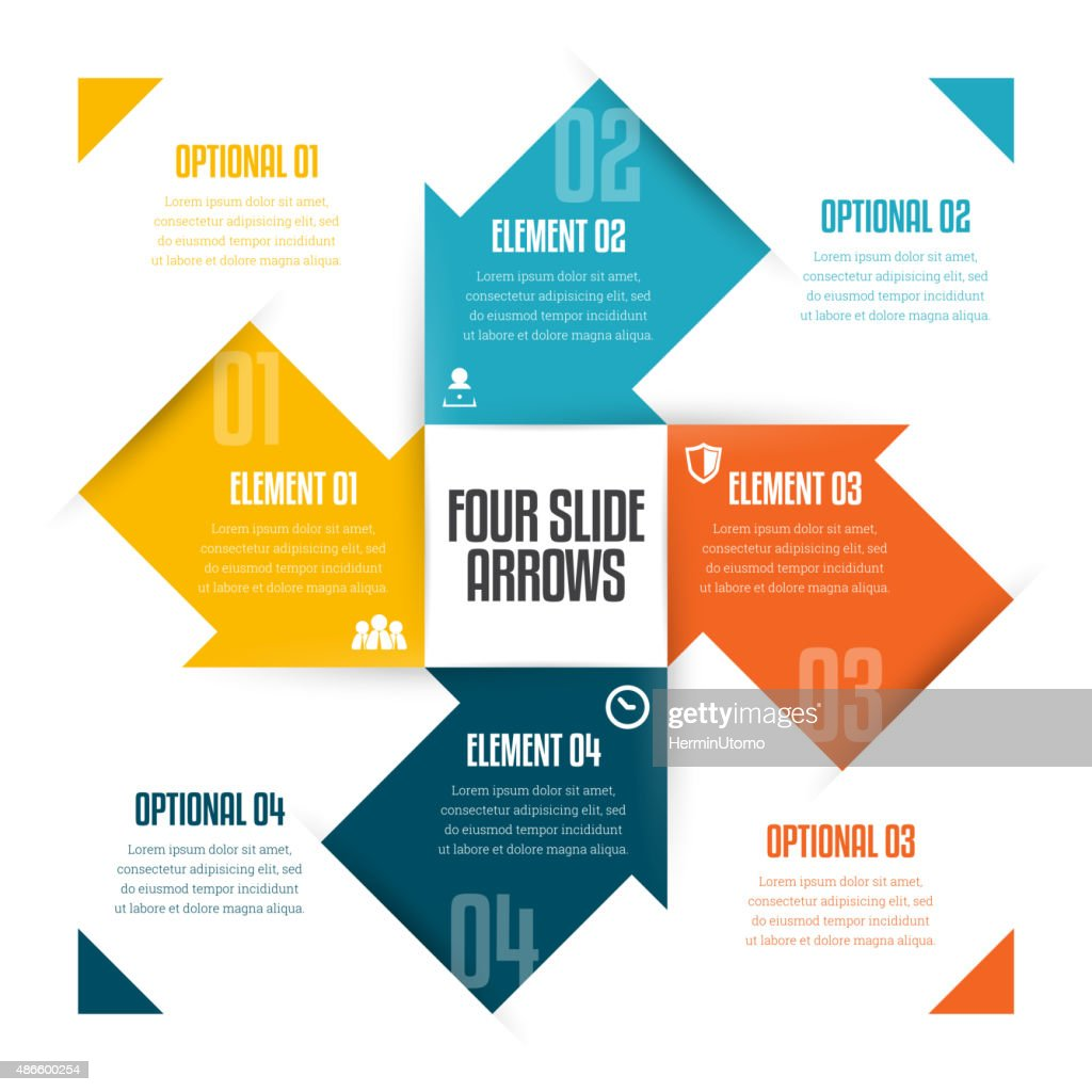 Four Slide Arrows Infographic