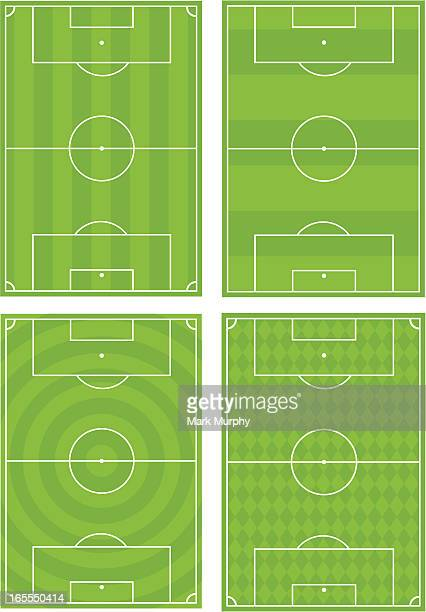 Four Soccer Football Pitches
