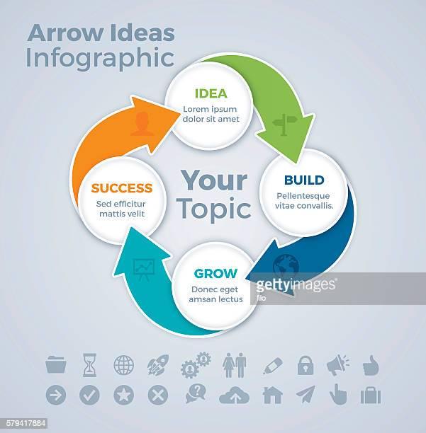Four Step Arrow Infographic
