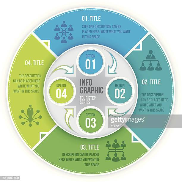 Vier Schritt Infografik