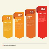 Four Steps Diagram Template