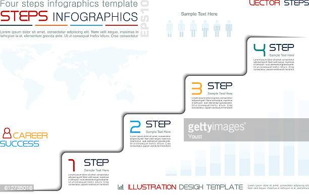 Four Steps to Success Infographic Template
