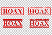 Four Style of Rubber Stamp - Hoax, at Transparent Background
