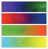 Four vector polygonal background for banner 6