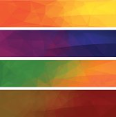Four vector polygonal backgrounds for banner 2.