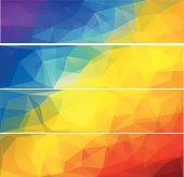 Four vector polygonal backgrounds for banner 4.