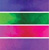 Four vector polygonal backgrounds for banner 5
