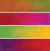 Four vector polygonal backgrounds for banner 7