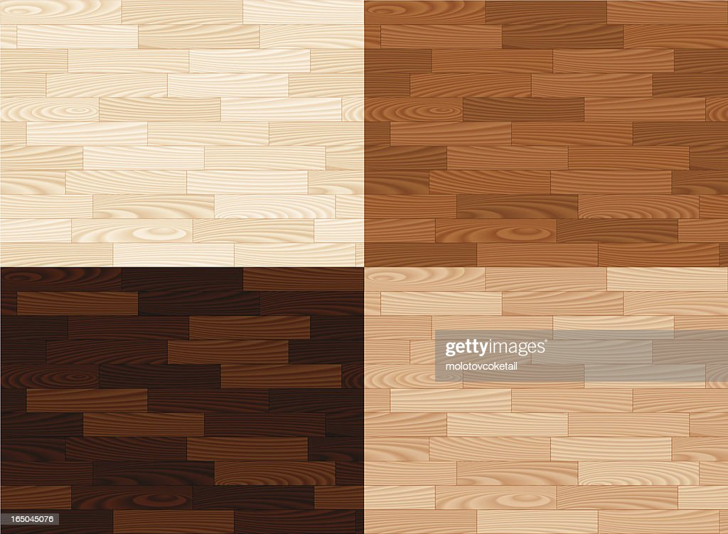 Four wooden tiles in different colors