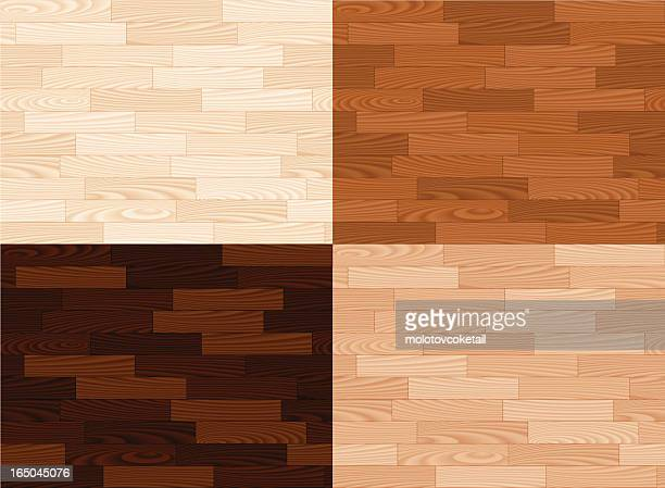 four wooden tiles in different colors - hardwood floor stock illustrations, clip art, cartoons, & icons