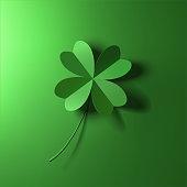 four-leaf lucky clover leaf vector illustration