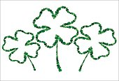four-leaf. the contour of the clover.  St.Patrick 's Day. Vector illustration. Greeting card with empty space for text or advertising.