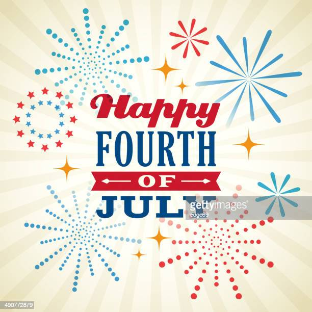 fourth of july background - independence day stock illustrations, clip art, cartoons, & icons