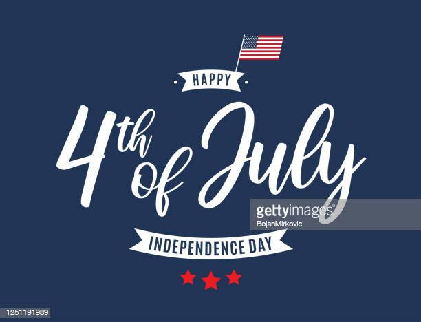 fourth of july card. independence day. vector - independence day holiday stock illustrations