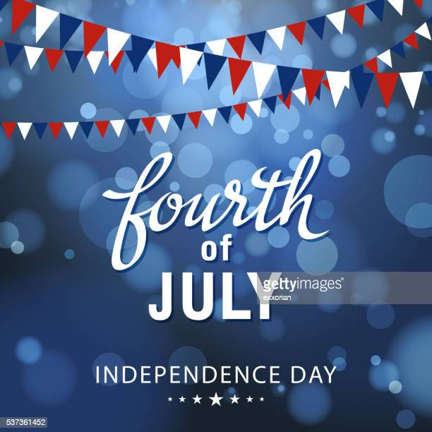 fourth of july celebration - political party stock illustrations