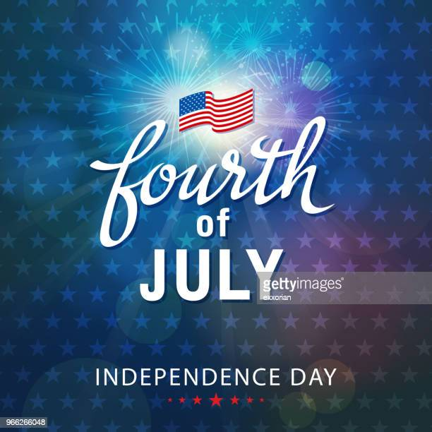 fourth of july celebration - independence day stock illustrations, clip art, cartoons, & icons