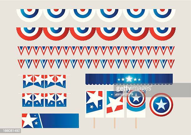 fourth of july decorations - president stock illustrations, clip art, cartoons, & icons