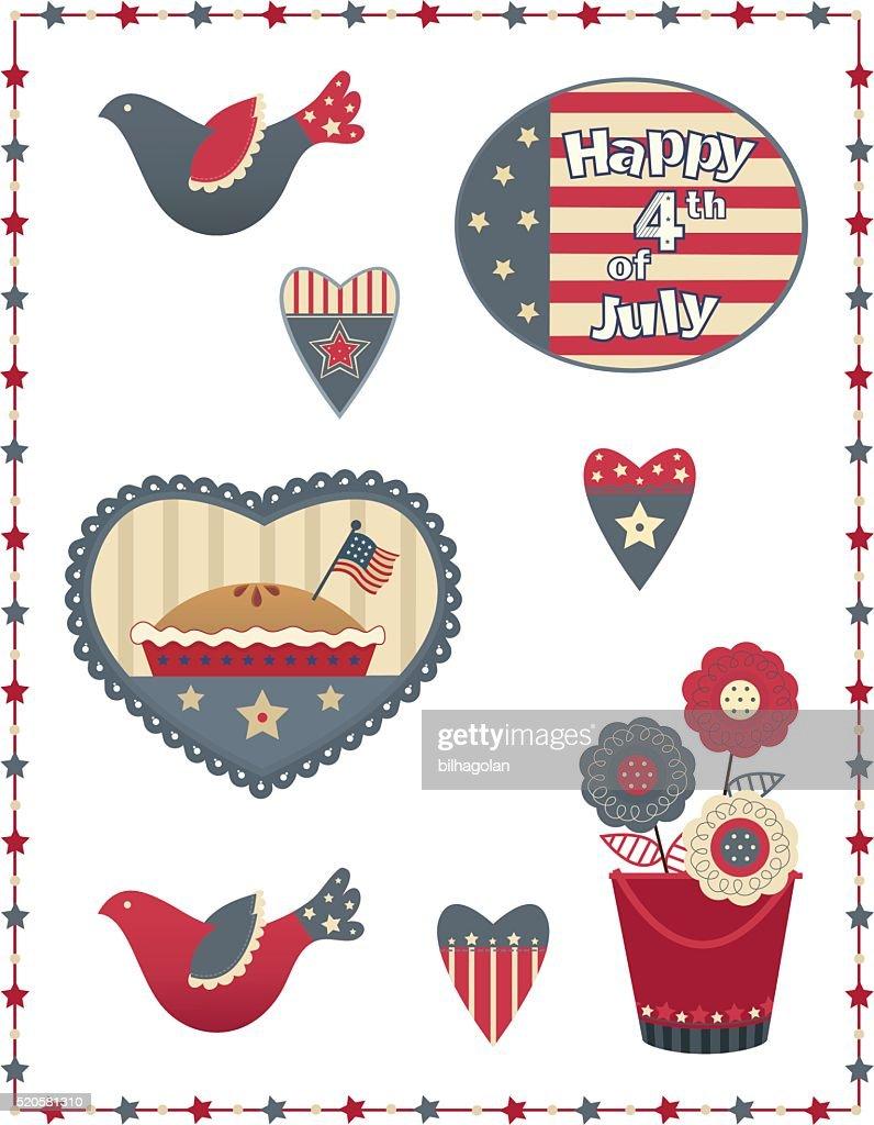 Fourth of July Decorative Set