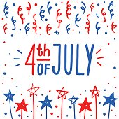 Fourth of July greeting card.