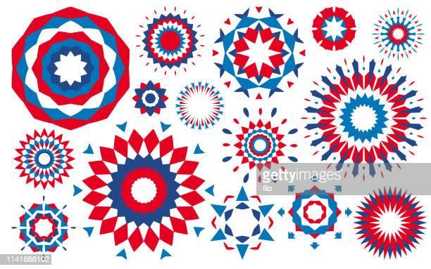 7月4日独立記念花火抽象愛国的デザイン要素 - 伝統的な祭り点のイラスト素材/クリップアート素材/マンガ素材/アイコン素材