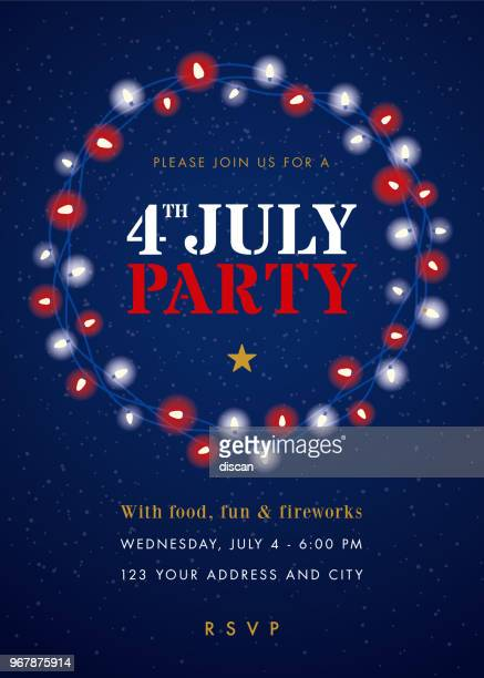 Fourth of July Party Invitation Template