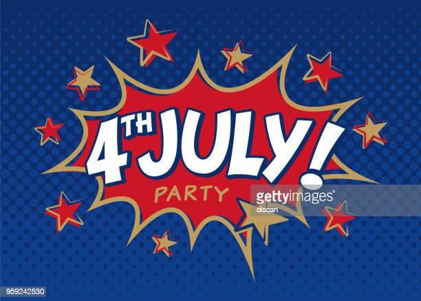 4 juillet Fête Invitation