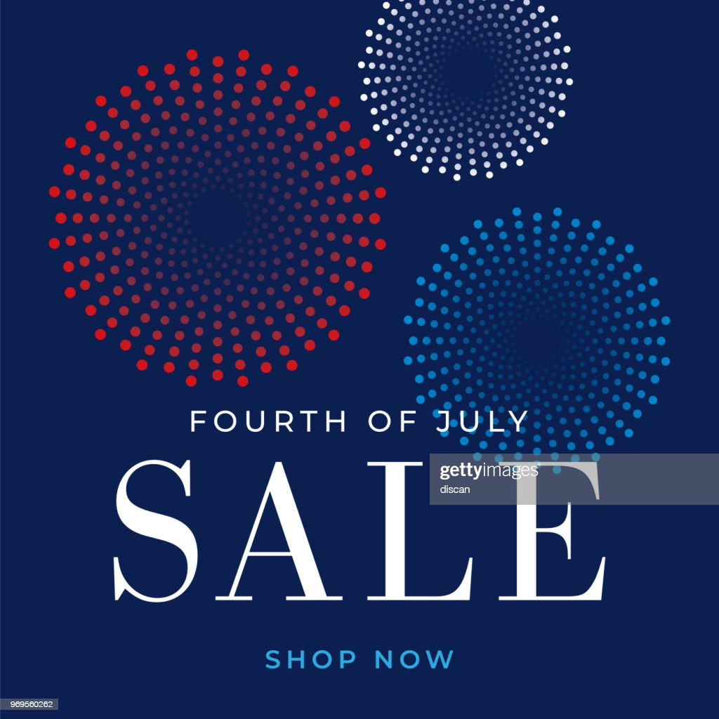 Fourth of July sale design for advertising, banners, leaflets and flyers - Illustration : stock illustration