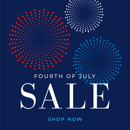 Fourth of July sale design for advertising, banners, leaflets and flyers - Illustration - gettyimageskorea