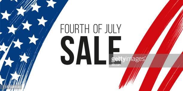 fourth of july usa independence day sale banner. - fourth of july stock illustrations