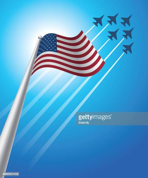 fourth of july - us air force stock illustrations, clip art, cartoons, & icons