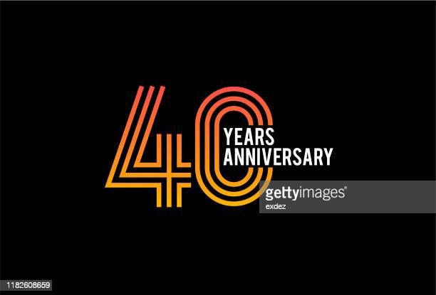40周年記念デザイン - 40周年点のイラスト素材/クリップアート素材/マンガ素材/アイコン素材