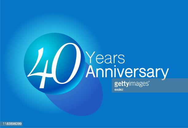 fourty year anniversary design - 40th anniversary stock illustrations