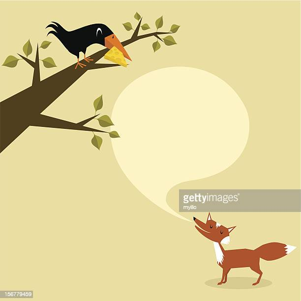 fox and crow. part 1 - applauding stock illustrations, clip art, cartoons, & icons