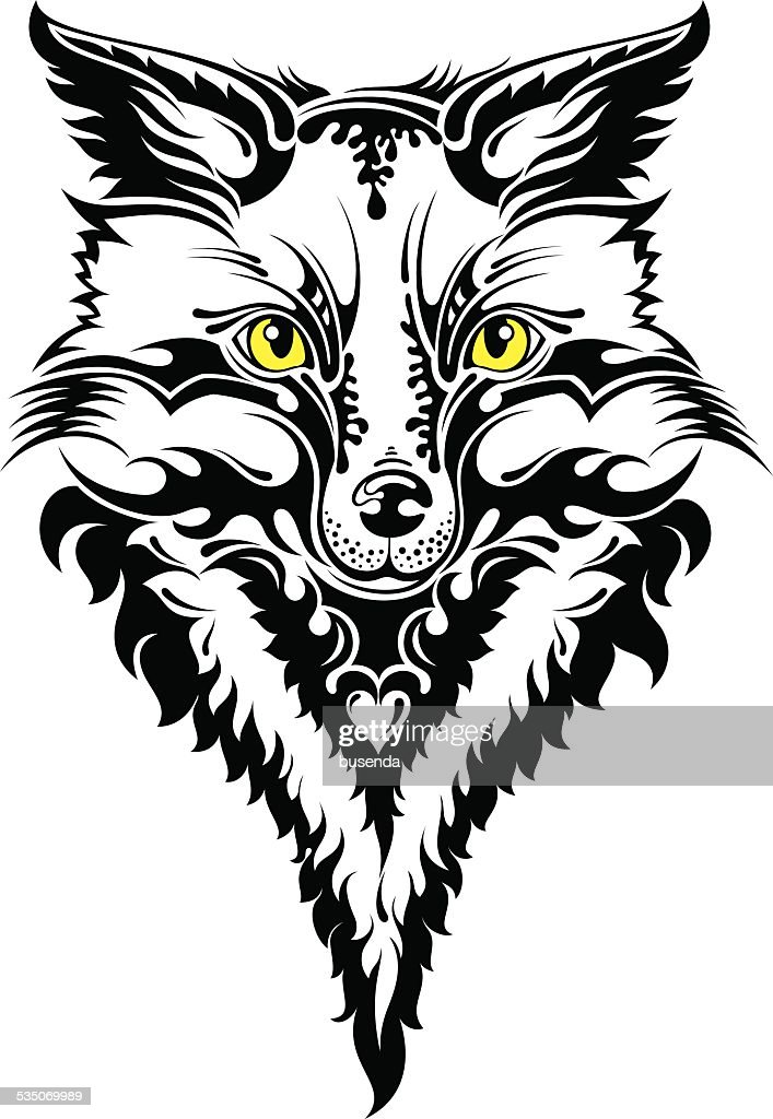 Fox head tattoo